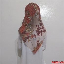 Firuze Flamlı Cotton Eşarp (frz01-09)
