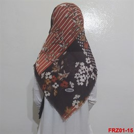 Firuze Flamlı Cotton Eşarp (frz01-15)